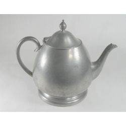 Crescent Pewter Teapot